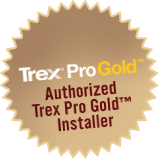 Trex Pro Gold Authorized Installer seal